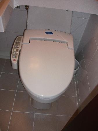 Metro Hotel: High tech toilet (spot the flusher!)