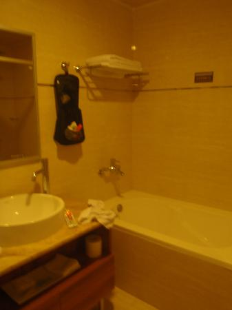 T Hotel Kaohsiung: Bathroom was clean and had new fixtures.