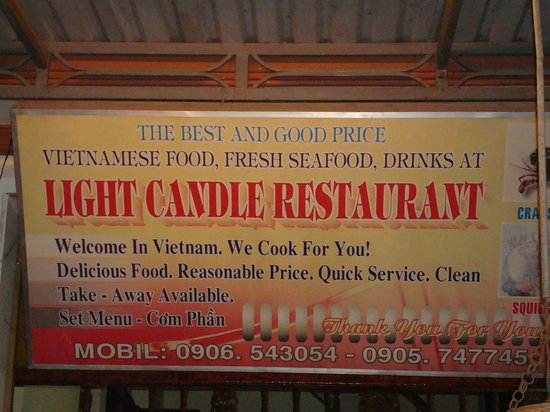 Light Candle: sign
