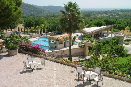 EcoHotel & Spa Monnaber Nou: view from finca monnaber nou terrasse- mallorca