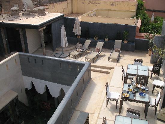 Riad Alamir: Terraza