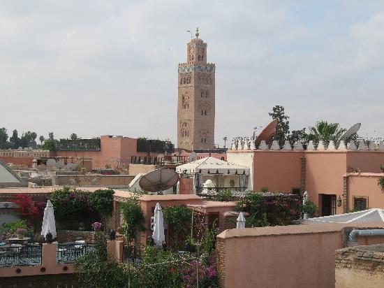 Riad Alamir: Vista de la terraza