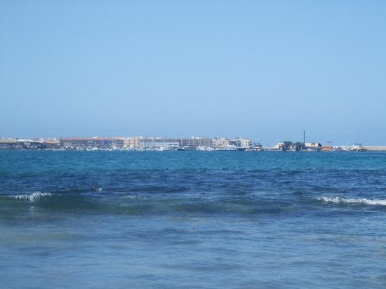 Corralejo, España: Across the bay to the old town