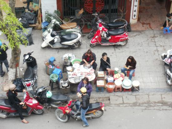 Au Lac Hanoi Hotel : Blick vom Balkon