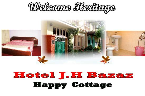 Hotel JH Bazaz (Happy Cottage): lush green lawn