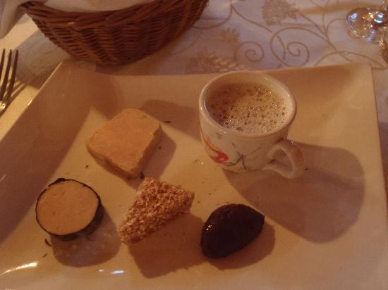 Auberge Ramstein: Entrée: assortiment de foies gras
