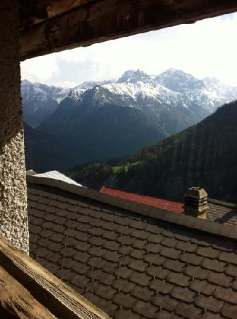 Vna, Schweiz: vista desde el hotel