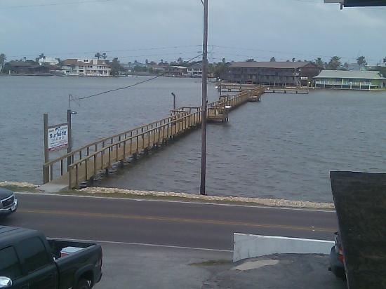 Rockport, Teksas: view from balcony of the new pier