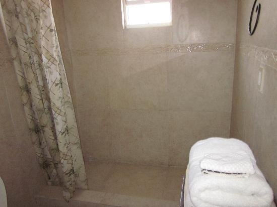 Manta House: The shower in the Suite
