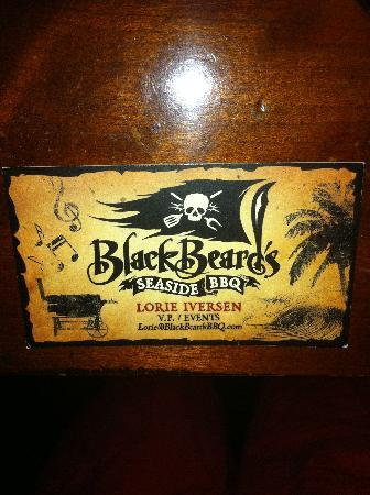 My Business Cards - Picture of Blackbeard's Seaside BBQ, Ventura ...