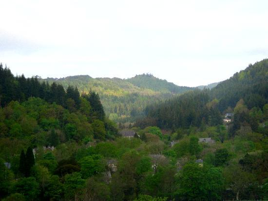 Bryn Bella Guest House : View of Betws-y-Coed from our room at Bryn Bella