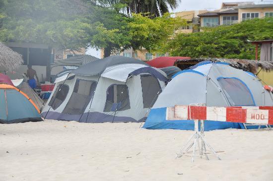 MVC Eagle Beach: Tents on Eagle Beach