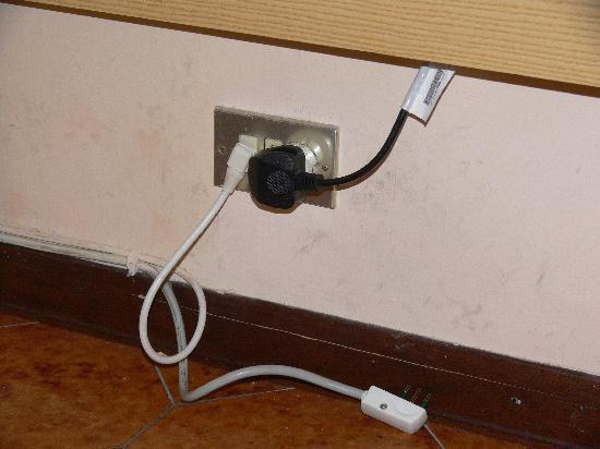 Best Western Hotel Liberta : No plug points...