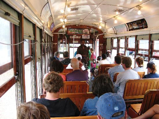 RTA - Streetcars: Inside streetcar