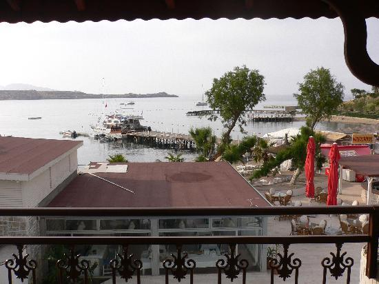 Gumbet Beach Resort Boutique Hotel: view from balcony , late evening