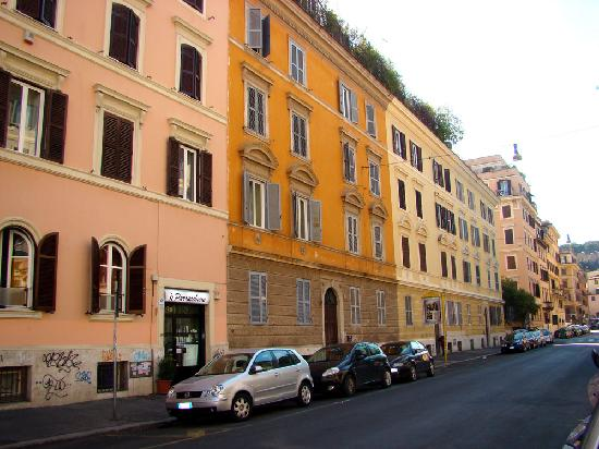 Rome Vatican B&B: AGV 2001 is located on the ground floor of the orange coloured building.