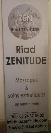 Riad Zenitude Massages et sois esthétiques sur R.V.