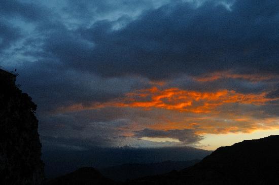 Castelmola, Włochy: Sonnenuntergang über dem Ätna
