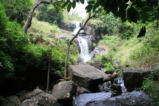 Vellamunda, India: waterfall around the corner!