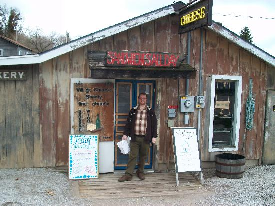 Village Cheese Shanty: My friend Brian at the front door