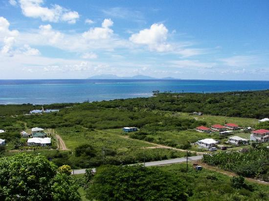 South Coast Ocean View Apartments: Montserrat in the distance, (26 miles away)