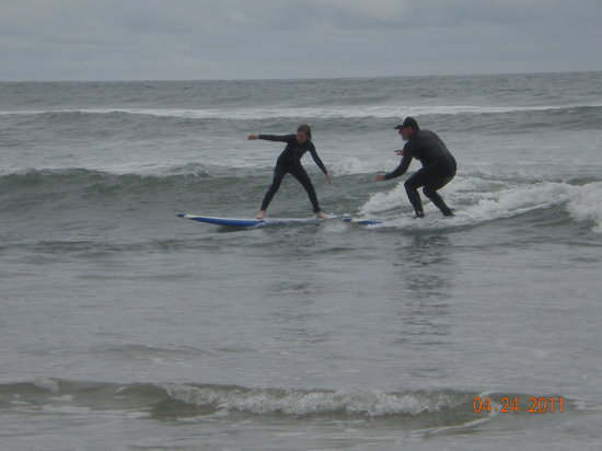 San Diego Surfing Academy Lessons: First Lesson!!!