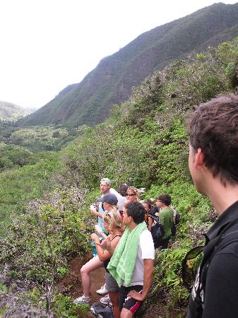 Banana Bungalow Maui Hostel: the bungalow crew hiking Iao valley