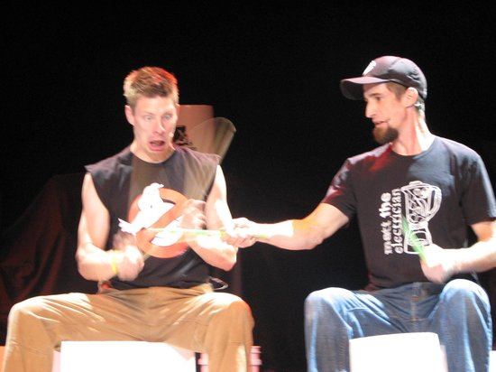 Buckets N Boards Comedy Percussion Show: Fun happens so fast you almost miss it sometimes.