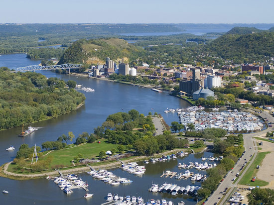 Red Wing, MN: Aerial View