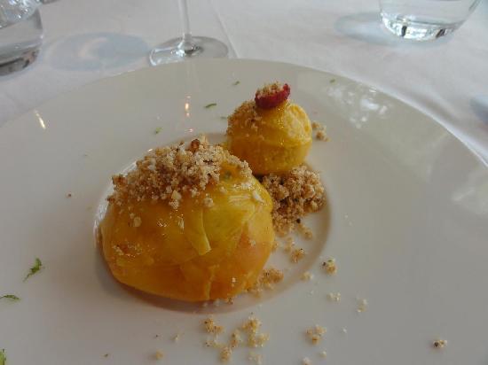 Restaurant du Lac: Crumble de mangue