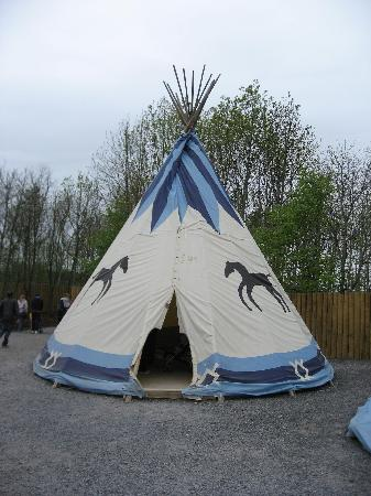Tayto Park: one of the wigwams in the American village