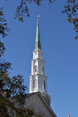 Savannah, Georgien: Church in historic district.