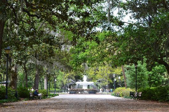 Savannah, Geórgia: Forsyth park.