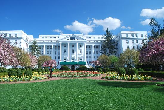 The Greenbrier: Back of resort