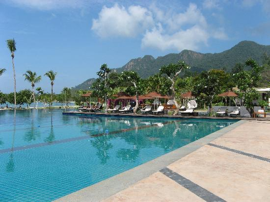 The Danna Langkawi, Malaysia: The pool, with comfortable sun loungers