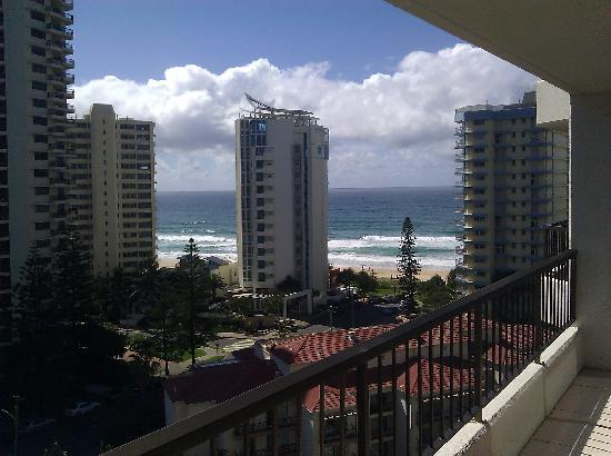 Surfers Century Apartments: On the balcony looking north east to the ocean