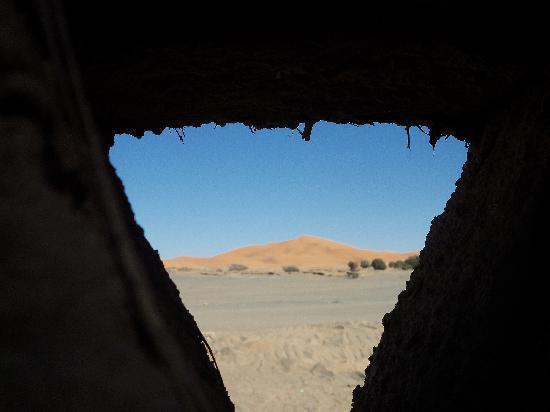 Auberge Camping Ocean Des Dunes: la vista dalle mura