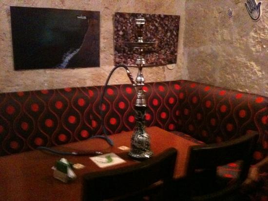 Ras El hanout: shisha in the smoking lounge