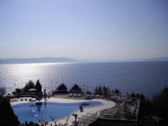 Valamar Bellevue Hotel & Residence: Vue de notre chambre au réveil !