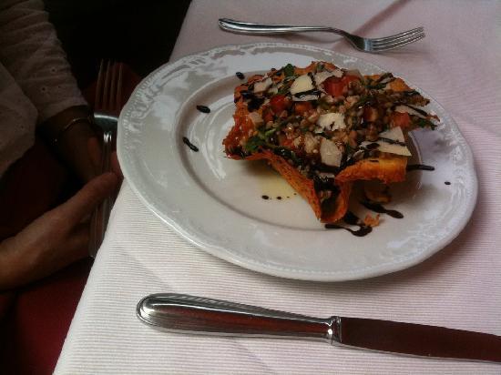A delicious and creative antipasti at La Torretta