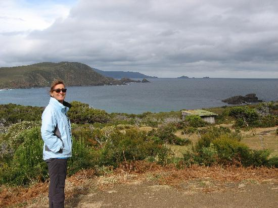 Tasmania, Australia: View from lookout on Bruny Island.