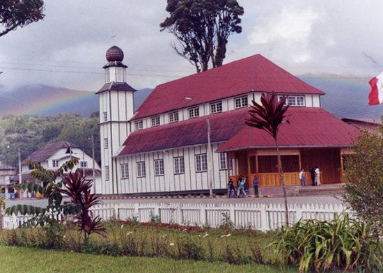Iglesia Santa Rosa , Oxapampa, Perú