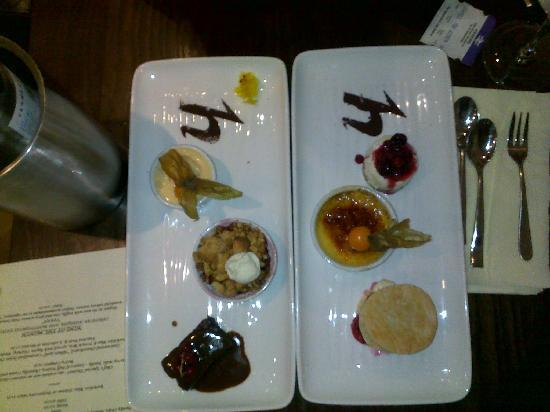Harry's Lounge Bar & Brasserie: Here are the desserts