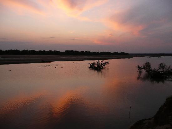 Luangwa River Camp: The river at sunset
