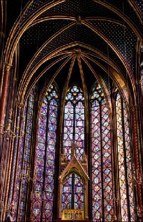 Paris Private Guides: Just some of the stained glass at Sainte Chapelle