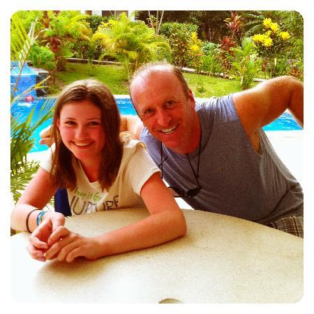 The Hideaway Hotel Playa Samara: Doug and my daughter, Grace.