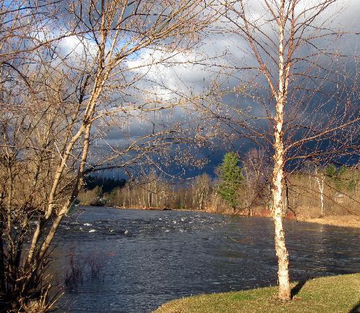 Au Sable Forks, État de New York : Confluence of Ausable River