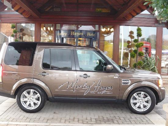 The Morley Hayes Hotel: Our courtesy shuttle vehicle