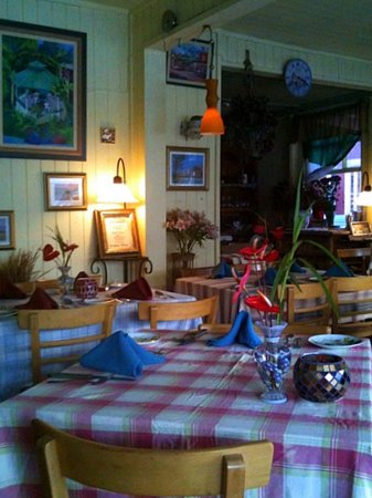 Charming interior of Paolo's Bistro