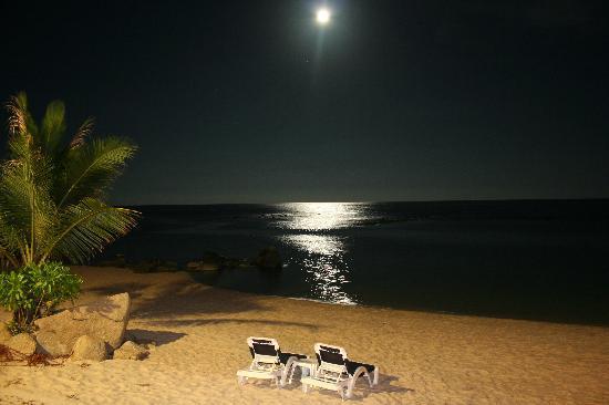 Centara Villas Samui : moonlight from the Beach bar one evening